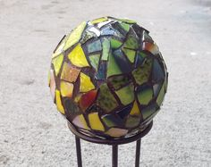 Garden Decor Globe Mosaic Orb Mosaic Ball by PiecesofhomeMosaics