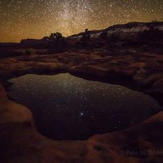Stillness. Silence: Some of the Grand Canyons greatest assets. Day 38: Mile 325. Water pothole - cold night. Shot on assignment for @natgeo by @pedromcbride. #chasingrivers #grandwalk #grandcanyon #nature #gratitude #love #stars by pedromcbride