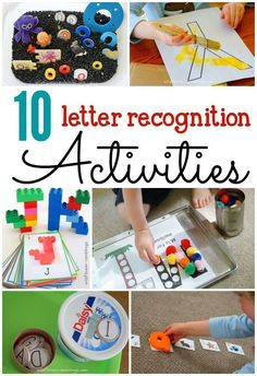 Hands-on ABC activities for kids. These would be great alphabet literacy letter recognition activities. Hands-on ABC activities for kids. These would be great alphabet literacy centers. Teaching Letter Recognition, Teaching Letters, Preschool Letters, Recognition Ideas, Letter Tracing, Teaching Tools, Teaching Resources, Preschool Literacy, Kindergarten Activities