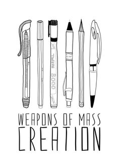 The images are simple, skeletal pictures of different mediums of art. The font matches the style of illustration with the vertical lines. The image uses only black which stands out against the white. The message projects a phrase that, without careful reading, would remind us of inconvenient things, yet it takes the mind to enlightenment.