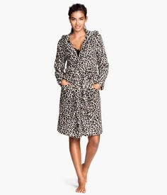 cheetah bathrobe. one word. luxury.