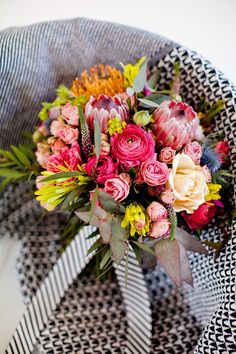 Bright and colorful bouquet.