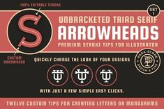 Unbracketed Triad Serif ArrowheadsS1 by Para-Scope Design & Type on @creativemarket Serif, Monogram, Letters, Type, Design Ideas, Website, Monograms, Letter, Lettering