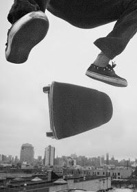 Giant kickflip over the city - skate photography