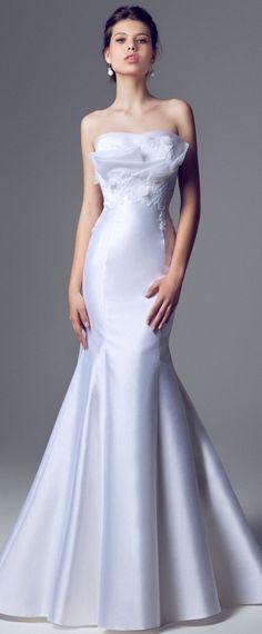 Blumarine Bridal - 2014 - Strapless Mermaid Gown with Crumb Catcher Neckline