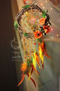 "Hunters handmade dreams.  Fair Masters - handmade.  Buy Dreamcatcher ""Dreams of poppy fields.""  Handmade.  red"