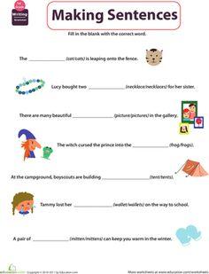 Beginning Grammar: Building Sentences | Writing skills, Writing ...