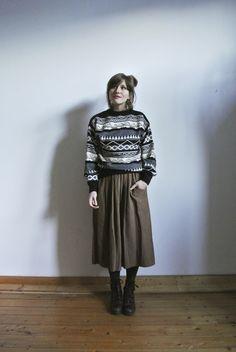 Vintage Pullover - ◆ STRICK ◆ Vintage Pulli - ein Designerstück von OLENKA-vintage bei DaWanda