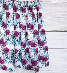 pretty garden SKIRT, mint skirt, skirt in roses, skirt in flowers,