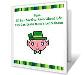'Leprechaun Lessons' is one of thousands of American Greetings cards you can personalize, share, and send to your friends and family. St Patricks Day Cards, American Greetings, Leprechaun, Greeting Cards, Printables, Friends, Amigos, Print Templates, Boyfriends