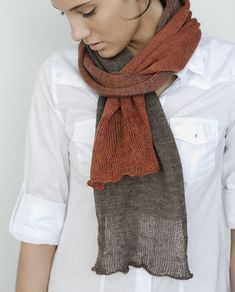 Ravelry: Décalage pattern by Julie Hoover $.  Scarf is an exercise in looking at color transitions