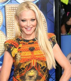 Charlotte Ross super-long straight hairstyle