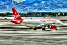 Virgin America Taxing - Aviation Art, Airplane Art, Airplane Photography, Pilot Gift, Aircraft Photography, Airline, Airbus 320 by ColoredLens on Etsy