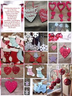 Handmade Christmas decorations by Craftyhands