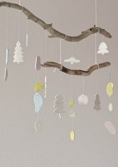 66 Ideas For Diy Baby Mobile Branch Kids Rooms Mobiles, Baby Mobile, Felt Mobile, Blog Deco, Diy Baby, Diy For Kids, Baby Room, Christmas Crafts, Barn