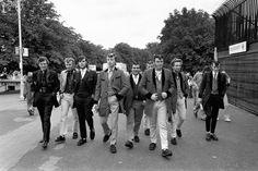 Teddy Boys on the march.