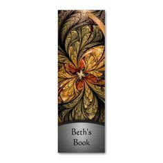 Shining Leaves Fractal Art Bookmark