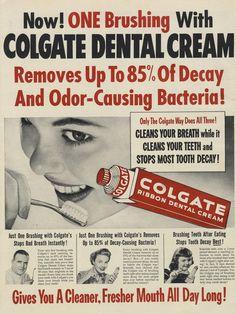 Vintage Toothpaste Ad Colgate Ribbon Dental Cream 1953 Tooth