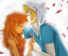 finn and flame princess....omw anime makes it look so much better
