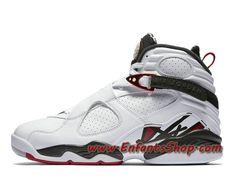 on sale 30999 825f3 Air Jordan 8 Retro Alternate Chaussures Basket Jordan Pas Cher Pour Homme  Blanc 305381-104
