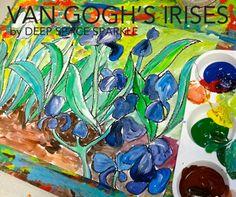 Van Gogh Irises art lesson