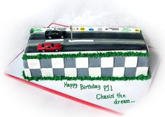 Chasin' The Dream Drag Strip Racing  on Cake Central