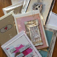 Handgemacht und Herzbedacht: unter dem Motto suchen wir zur Zeit kreative Menschen die für einen Kreativstand zugunsten des  Kinderhospizdienst Saar basteln, nähen und vieles mehr. Heute habe ich wundervolle Karten von Silvia bekommen ❤ vielen Dank dafür #handgemachtundherzbedacht #danke #karten #basteln #kreativ