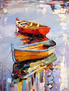 What is Your Painting Style? How do you find your own painting style? What is your painting style? Boat Painting, Painting & Drawing, Watercolor Paintings, Acrylic Paintings, Knife Painting, Pastel Watercolor, Painting Styles, Painting Flowers, Watercolor Artists