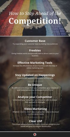 Essential tips to stay ahead of the competition in the marketing world! - Essential tips to stay ahead of the competition in the marketing world! Digital Marketing Strategy, Marketing Plan, Sales And Marketing, Business Marketing, Internet Marketing, Online Marketing, Business Entrepreneur, Marketing Strategies, Content Marketing