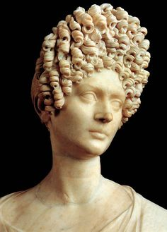 "historyfilia: ""During the first century and the imperial period, the hairstyles of roman women changed continuously. As in every phenomenon related to fashion, queens and princesses played an..."