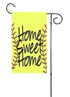 Home Sweet Home Baseball or Softball Garden Flag