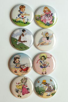 Vintage Girl Flair by aflairforbuttons on Etsy, $6.00