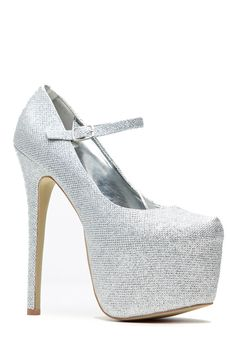 Shimmered In Silver Mary Jane Platform Pumps @ Cicihot Heel Shoes online store sales:Stiletto Heel Shoes,High Heel Pumps,Womens High Heel Shoes,Prom Shoes,Summer Shoes,Spring Shoes,Spool Heel,Womens Dress Shoes