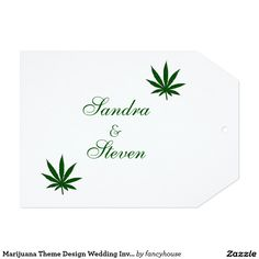 Marijuana Theme Design Wedding Invitation