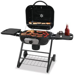 Deluxe Charcoal Barbecue Grill with Side Shelves Enjoy the outdoors while cooking your favorite foods! The Uniflame Deluxe Charcoal Barbecue Grill with Side Shelves is the grill you need to cook for gatherings of friends and family. Best Charcoal Grill, Charcoal Bbq, Indoor Outdoor, Outdoor Living, Best Gas Grills, Grill Parts, Clean Grill, Grill Cleaning, Cooking Temperatures