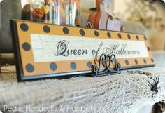 Queen of Halloween...I must have this!