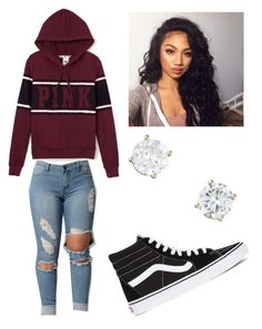 """""""Basic wear """" by brejeasmith ❤ liked on Polyvore featuring Vans and Victoria's Secret PINK"""