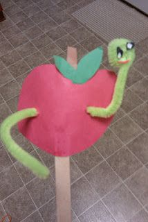 - Dig Into Reading Theme- Apple Worm Craft