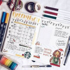 This is so cute and festive  @abby.studies  #notebooktherapy