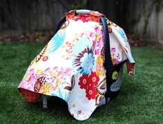 Car Seat Cover Sew Tart designer material by SewTinyBaby on Etsy, $38.00