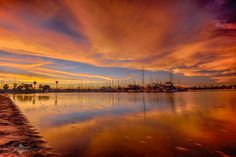 Evgeny Yorobe Photography   -    Stunning sunrise over Mission Bay this morning in San Diego, CA, 3/16/15