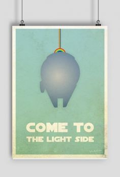 Come to the light side, star wars, plakat, poster