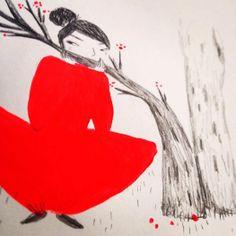 red girl by SOLENN LARNICOL