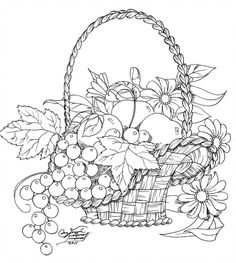 DeviantArt is the world's largest online social community for artists and art enthusiasts, allowing people to connect through the creation and sharing of art. Flower Coloring Pages, Coloring Book Pages, Coloring Sheets, Hand Embroidery Patterns, Embroidery Designs, Basket Quilt, Wood Burning Art, Parchment Craft, Fabric Painting