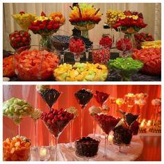 Ideas For Fruit Table Ideas Parties Food Fruit Tables, Fruit Buffet, Fruit Display Tables, Deco Fruit, La Trattoria, Party Platters, Fruit Platters, Fruit Dips, Fruit Fruit