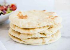 Learn how to make the best homemade pita bread with just 5 simple ingredients. This easy pita bread recipe tastes authentic and is perfectly soft & crispy. Kefir, Pita Bread Ingredients, Bread Recipes, Cooking Recipes, Cooking Ideas, Homemade Pita Bread, Bread Oven, Bread Bowls, Pasta