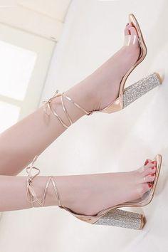 Black Pumps Heels, Stiletto Heels, Sexy Heels, Ankle Strap Heels, Ankle Straps, Cheap Heels, Rhinestone Heels, Girls Heels, Open Toe High Heels