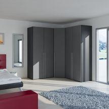 Voit tilata myös kulmakaapin. Paljon ovivaihtoehtoja. Koon ja sisällön voit tiedenkin itse päättää. - vallaste.fi Divider, Bed, Room, Wardrobes, Furniture, Design, Home Decor, Bedroom, Closets