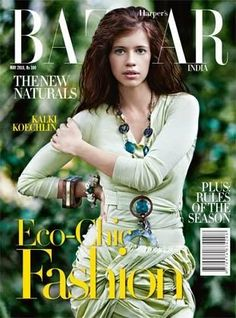 Kalki Koechlin, Harper's Bazaar Magazine May 2010 Cover Photo - India Kalki Koechlin, Fashion Cover, Harpers Bazaar, Beautiful Models, Magazine Covers, Indian Fashion, Lifestyle Blog, Diva, Bollywood