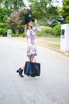 patterned boho dress